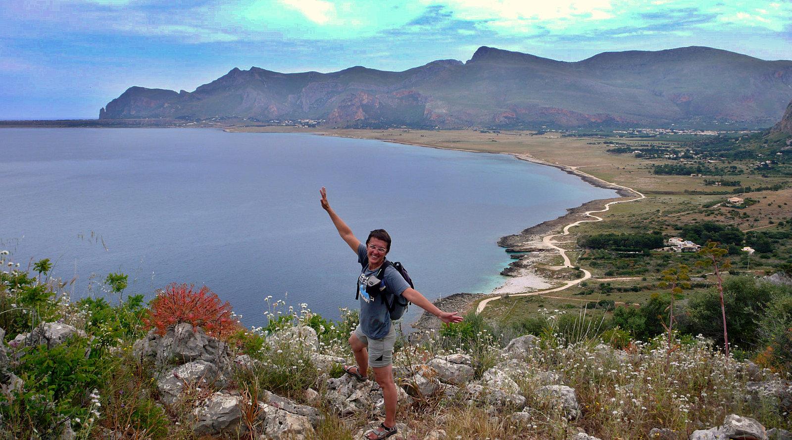 Panorama sulla Piana di Macari nella Riserva Naturale del Monte Cofano a Custonaci in Sicilia