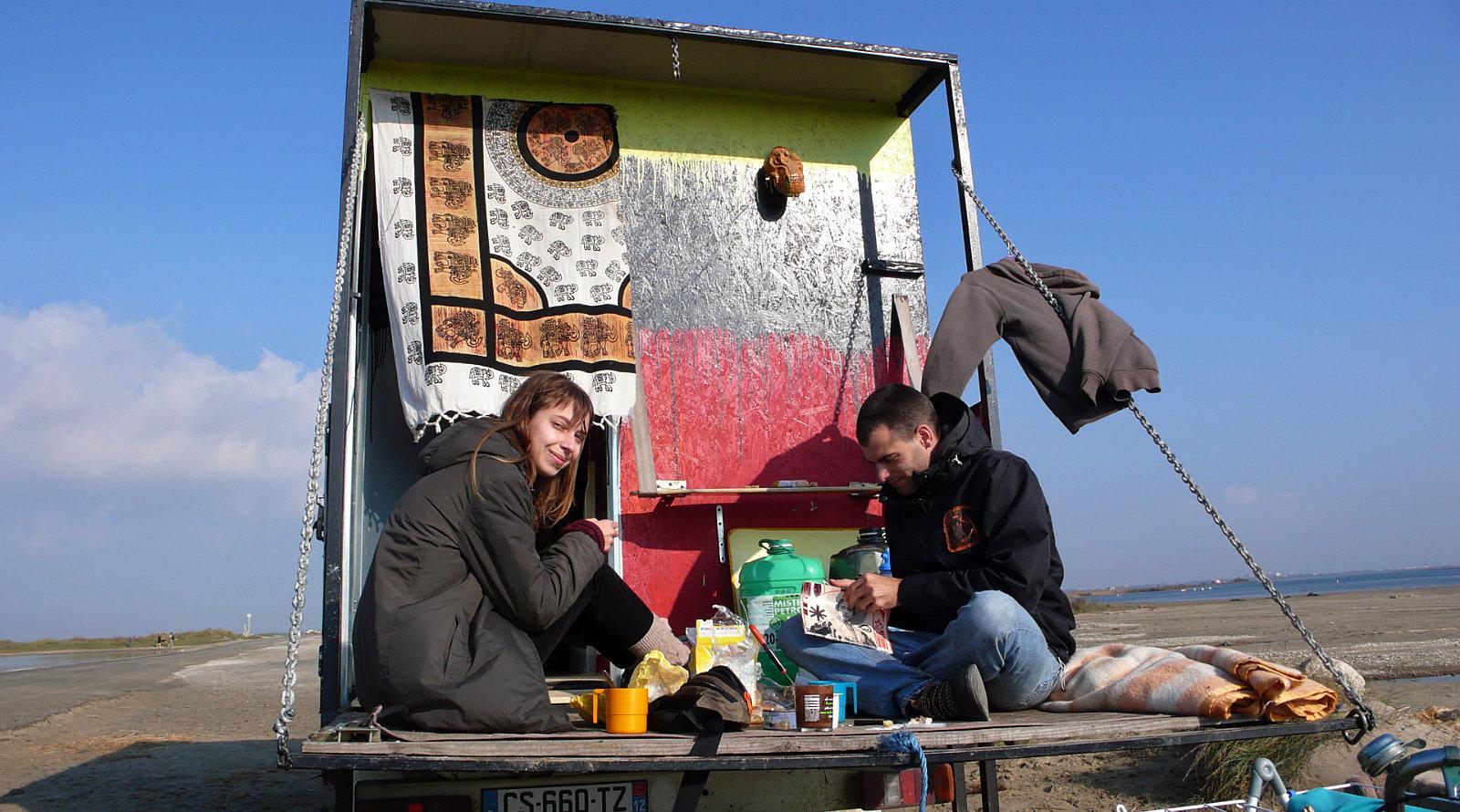 Fulltimers in Camargue, Provenza, nella spiaggia di Piemanson.