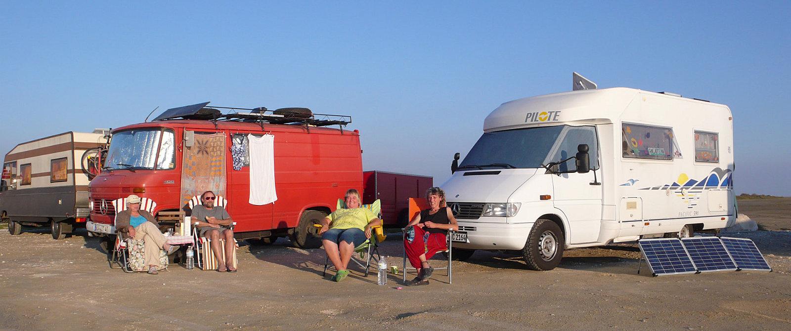 In Camargue, Provenza, nella spiaggia di Piemanson.