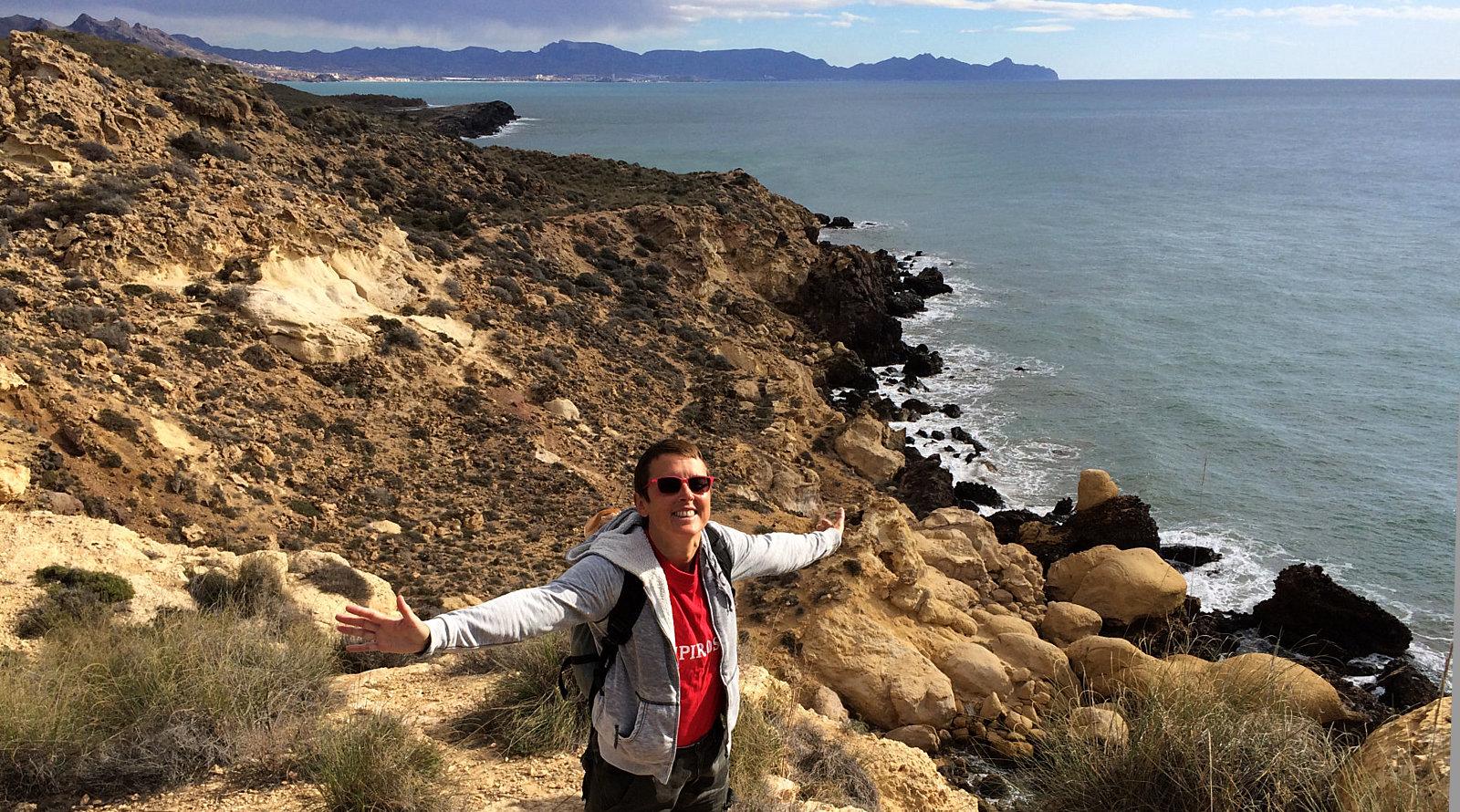 Escursione con Amelie lungo la costa di Calnegre