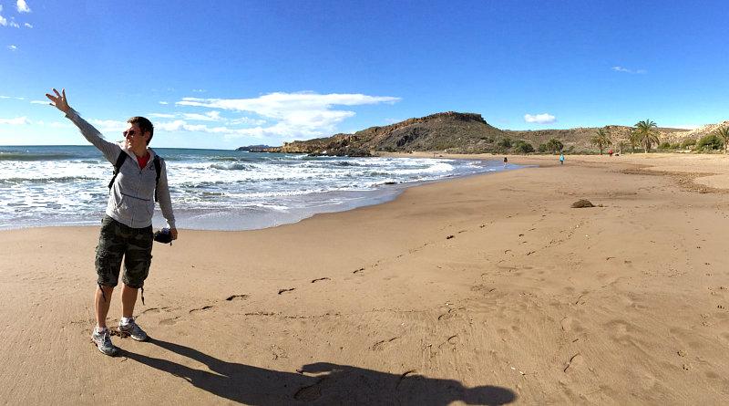 Amelie sulla spiaggia di Cabo Cope