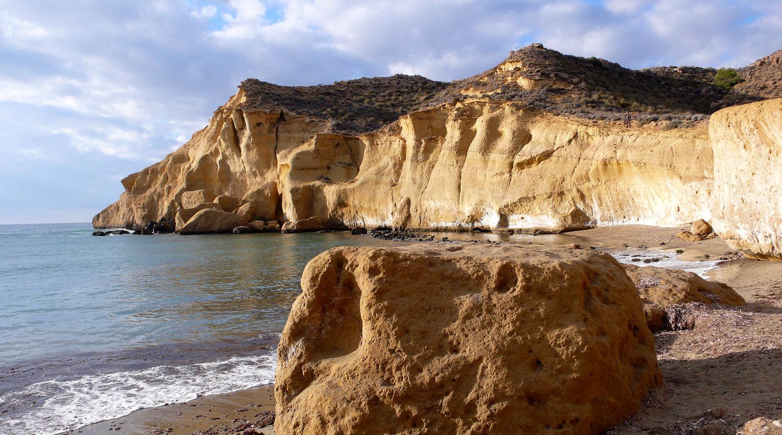 La meravigliosa costa rocciosa di Aguilas