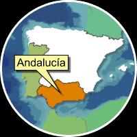 Mappa dell'Andalusia