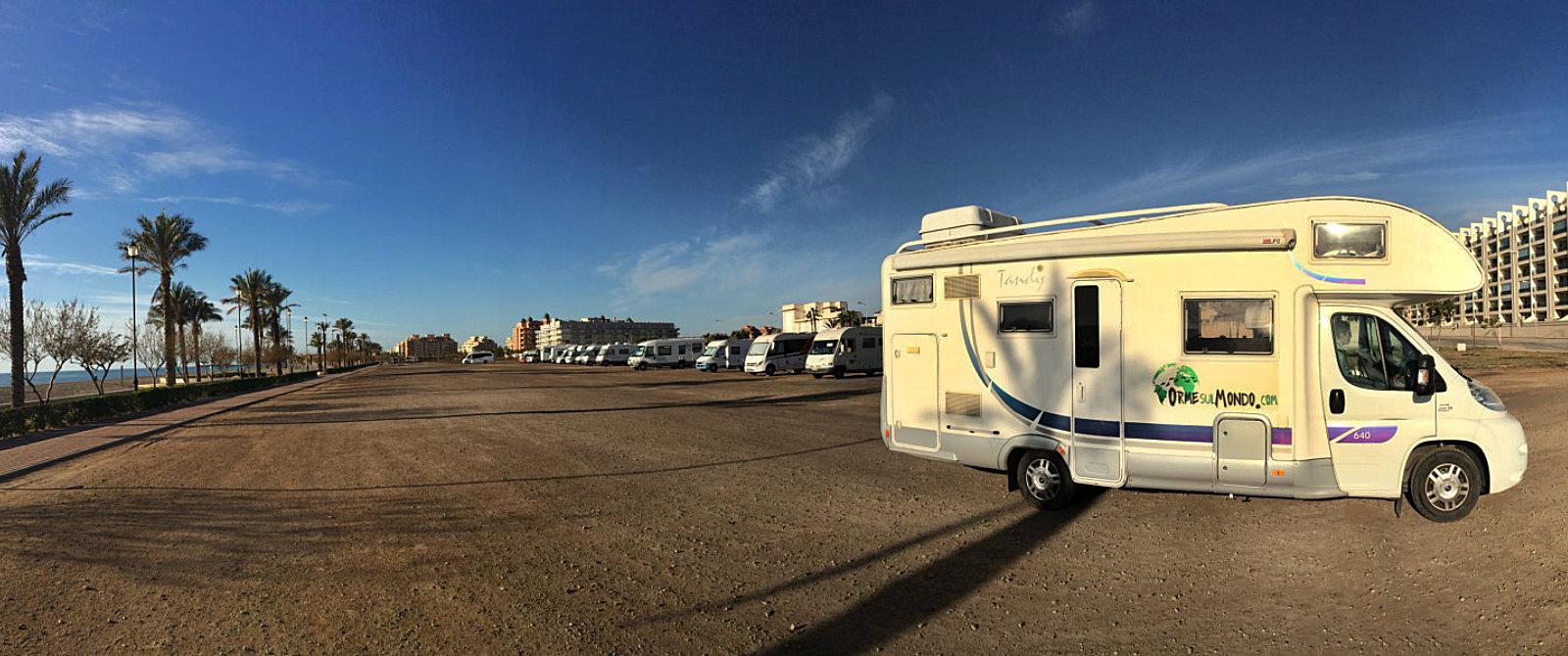 Sosta camper a Roquetas de Mar