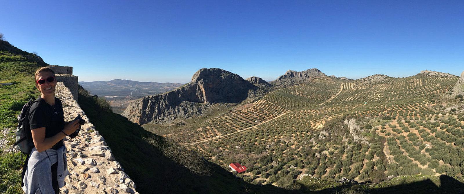 Amelia e il panorama dal Santuario della Virgen de Gracia