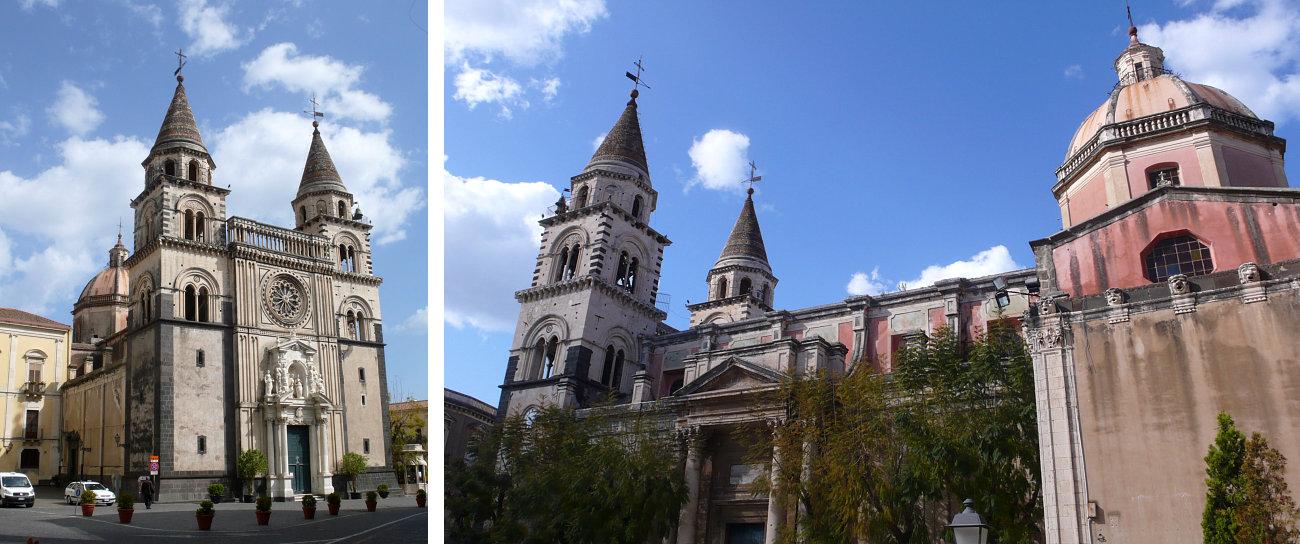 Vedute della Cattedrale di Acireale