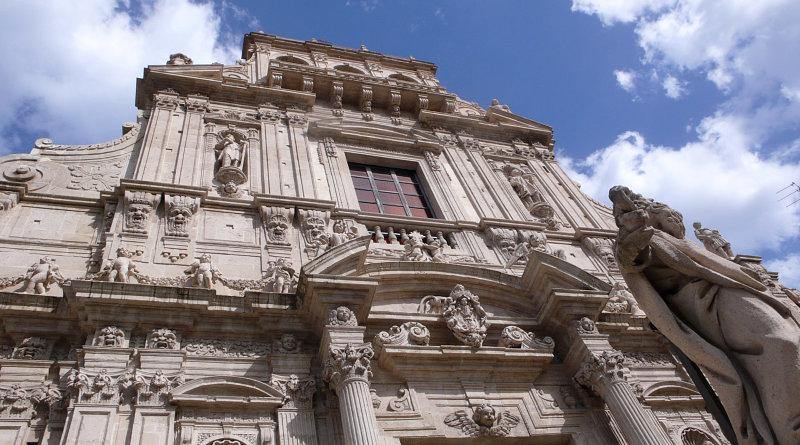 Facciata di una chiesa ad Acireale
