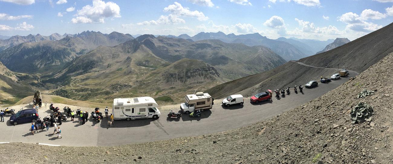 Il nostro camper sulla strada del Col de La Bonette
