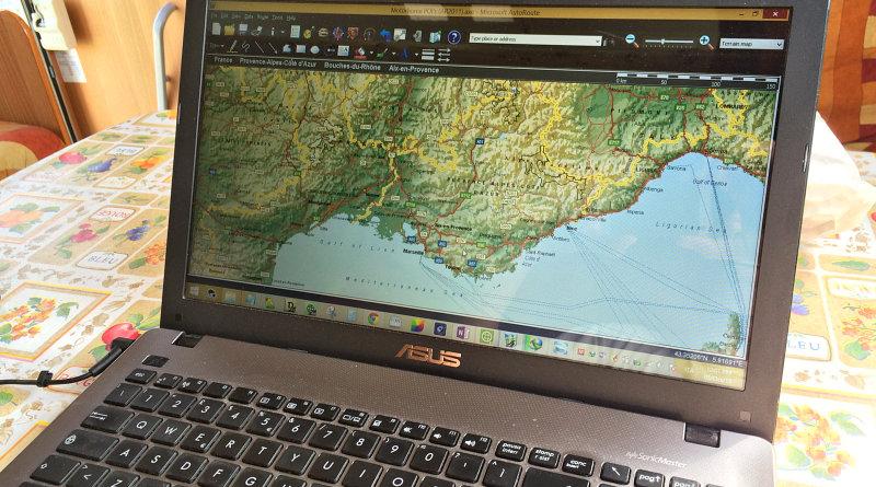 Utilizziamo Microsoft Autoroute per la pianificazione dei nostri itinerari in camper