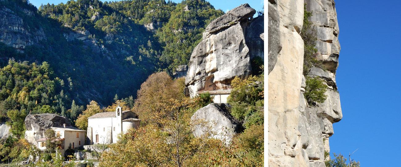 Le Gres di Annot, villaggio e totem di pietra