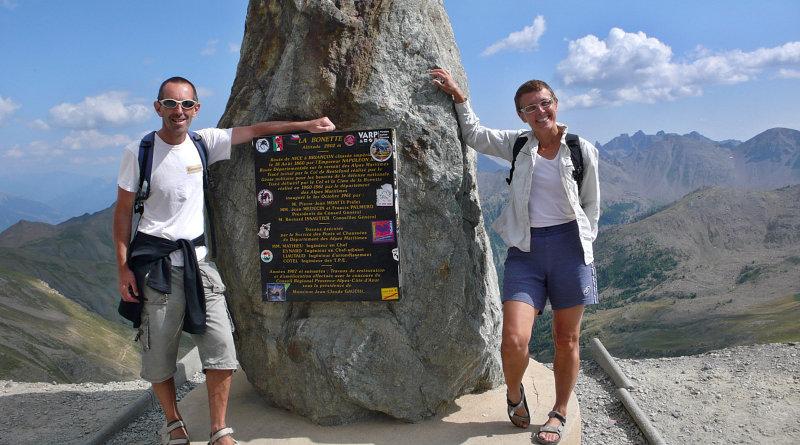 Pier e Amelie in cima al Col de La Bonette