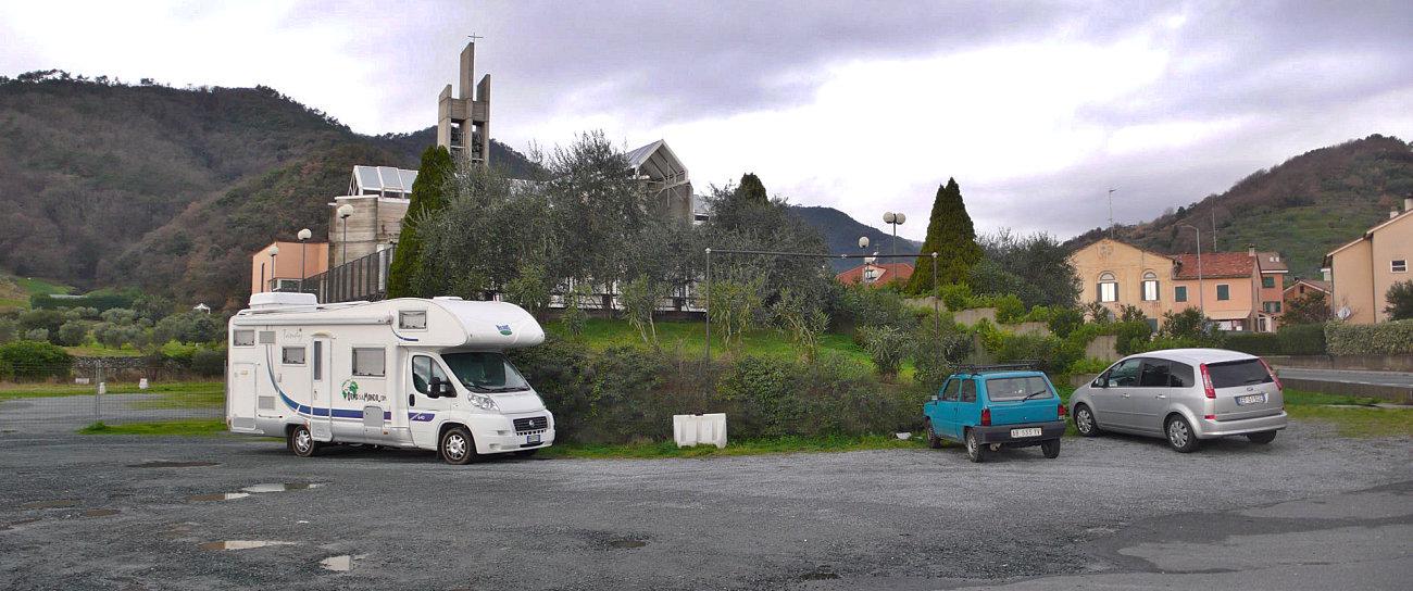 Il nostro camper in sosta a Luceto