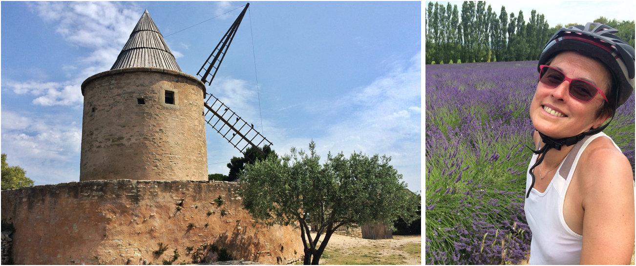 Il mulino restaurato di Goult e Amelie tra i campi di lavanda nei dintorni del villaggio