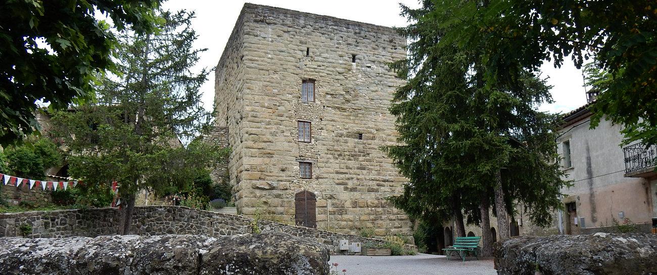 La torre romana quadrata di Rosans