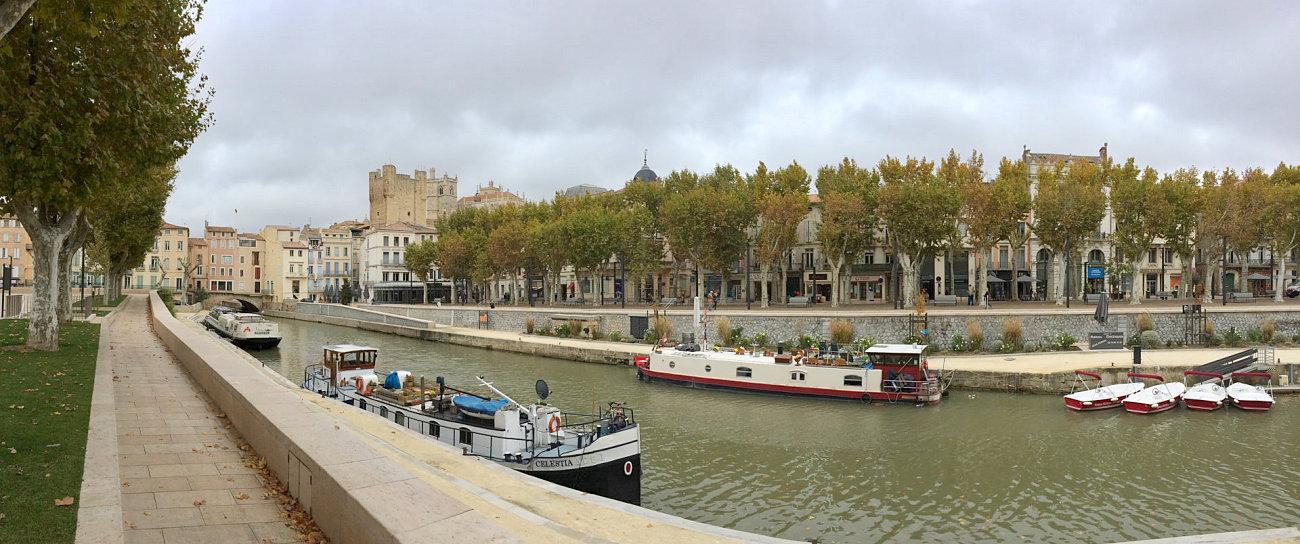 Il canale de la Robine all'ingresso di Narbonne
