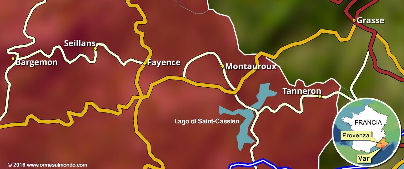 Cartina con le nostre soste nei Pays de Fayence