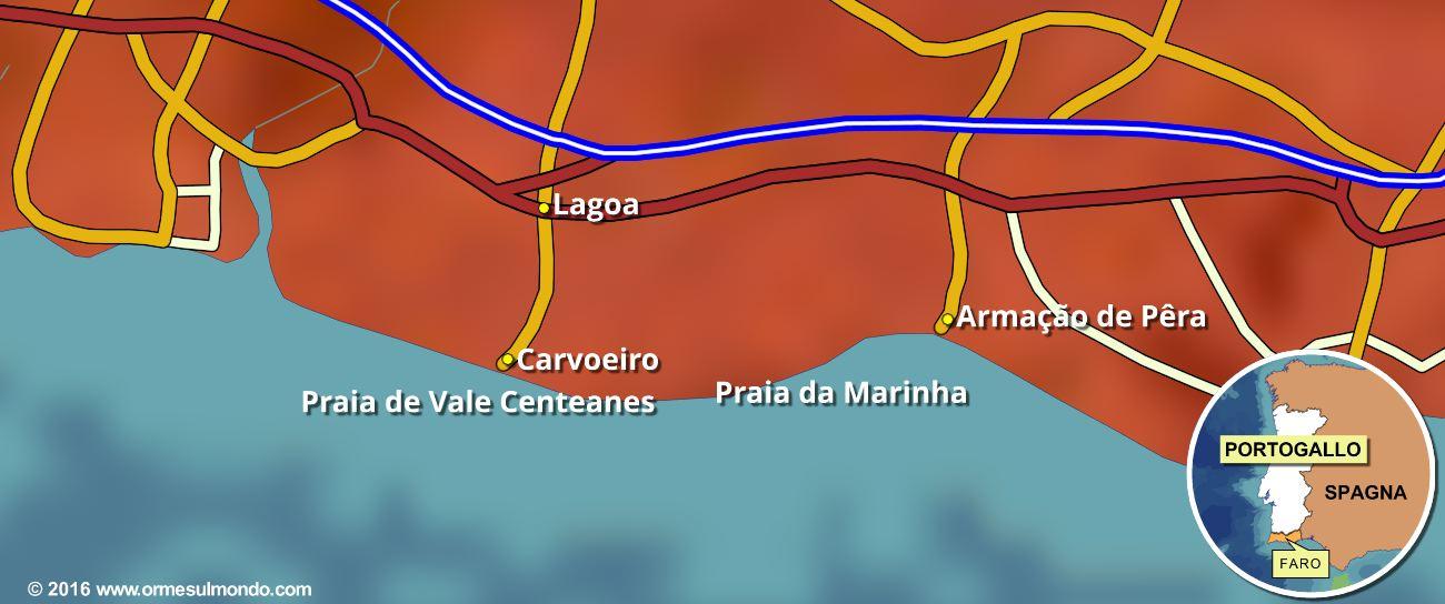 cartina sette valli sospese faro portogallo