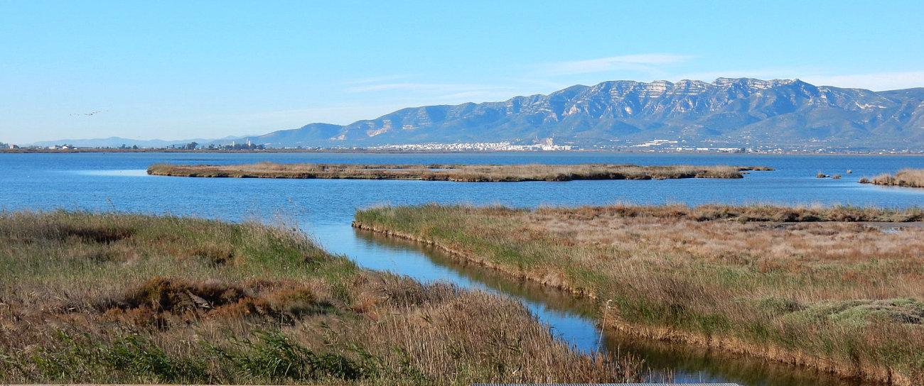 Panorama sulle saline del Delta dell'Ebro