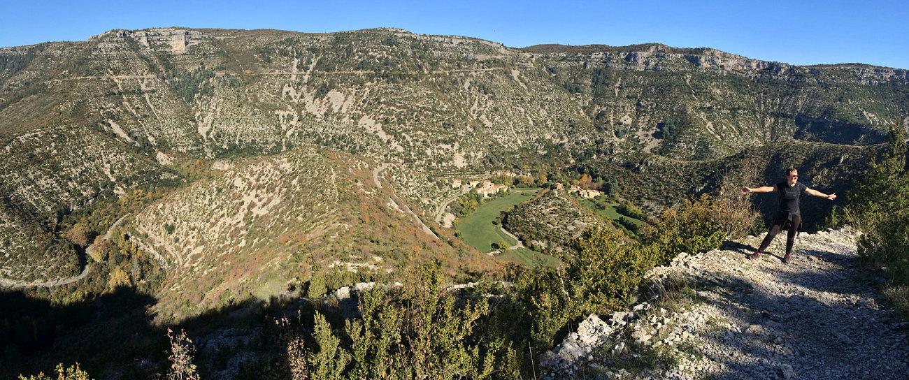 Vista panoramica del Cirque du Navacelle dal versante sud