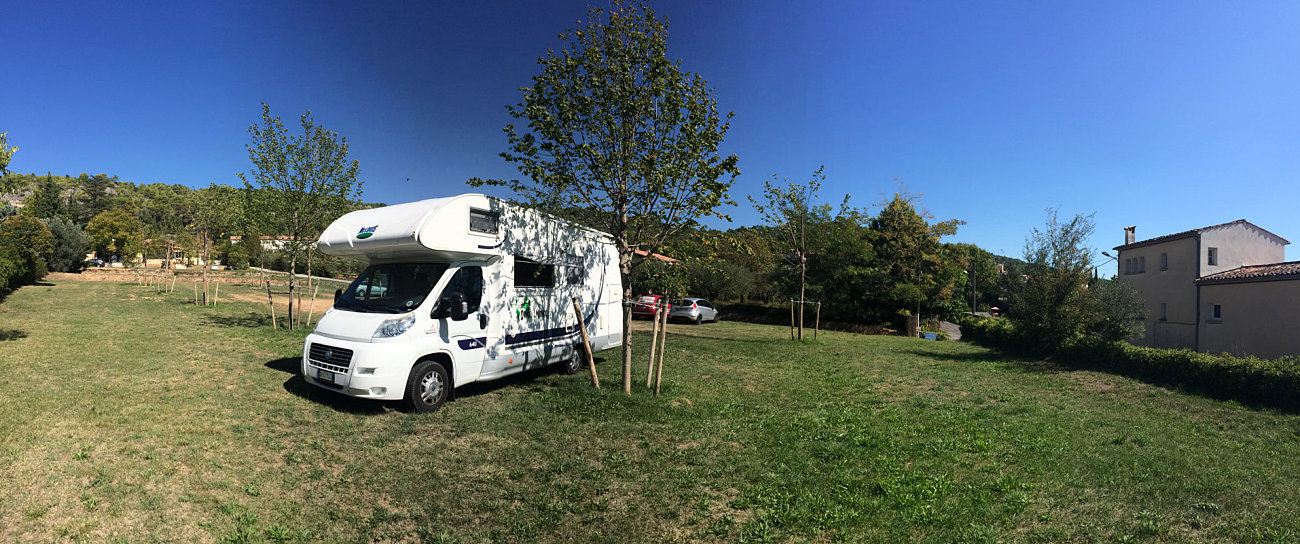 Il nostro camper in sosta libera a Villecroze