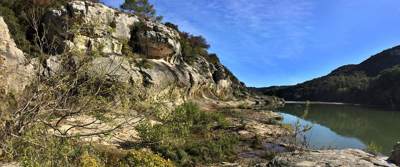 L'erosione del Gardon lungo le gole del canyon