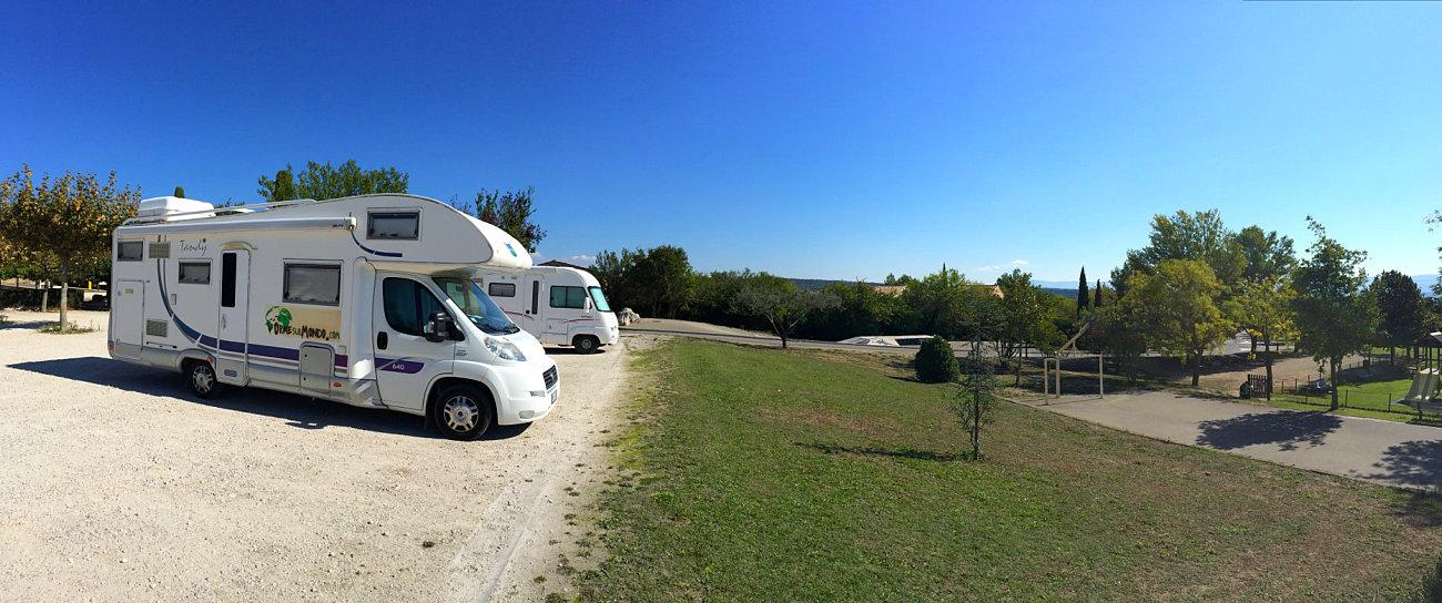 La nostra sosta in camper a Cabrières d'Avignon