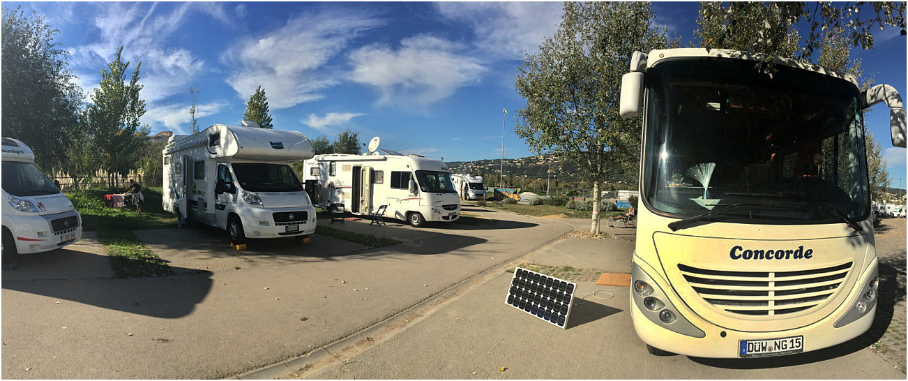 Camper in sosta libera a Platja d'Aro