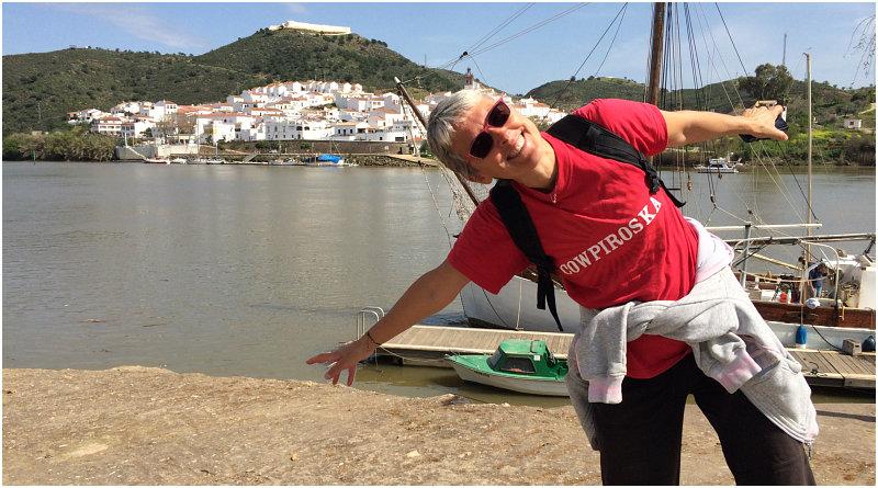 Sosta libera in camper ad Alcoutim lungo il Rio Guadiana