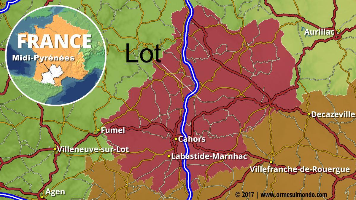 Sosta libera in camper a Labastide-Marnhac a pochi passi da Cahors