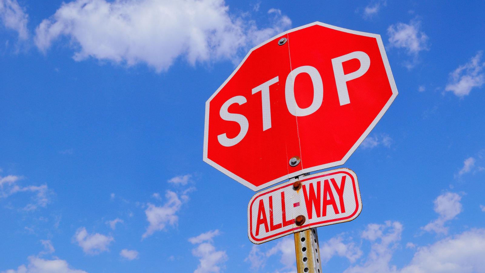 Cartello Divieto Stop