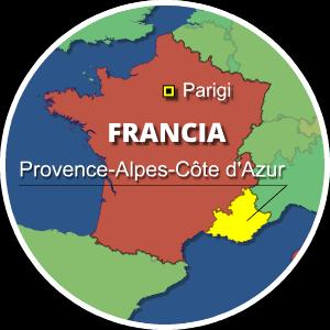 mappa francia provenza mercantour