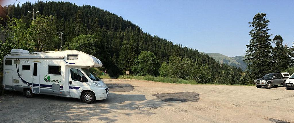 Sosta libera in camper sul Col de Turini