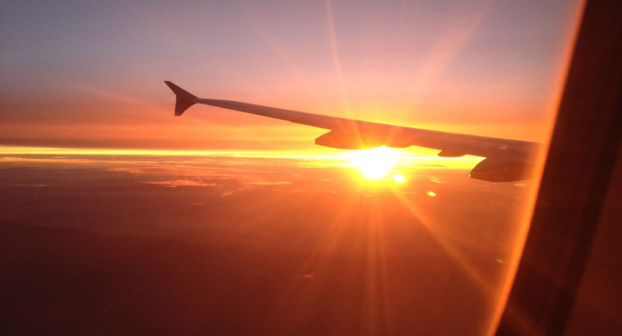 L'aereo da Zurigo prima dell'atterraggio a Johannesburg