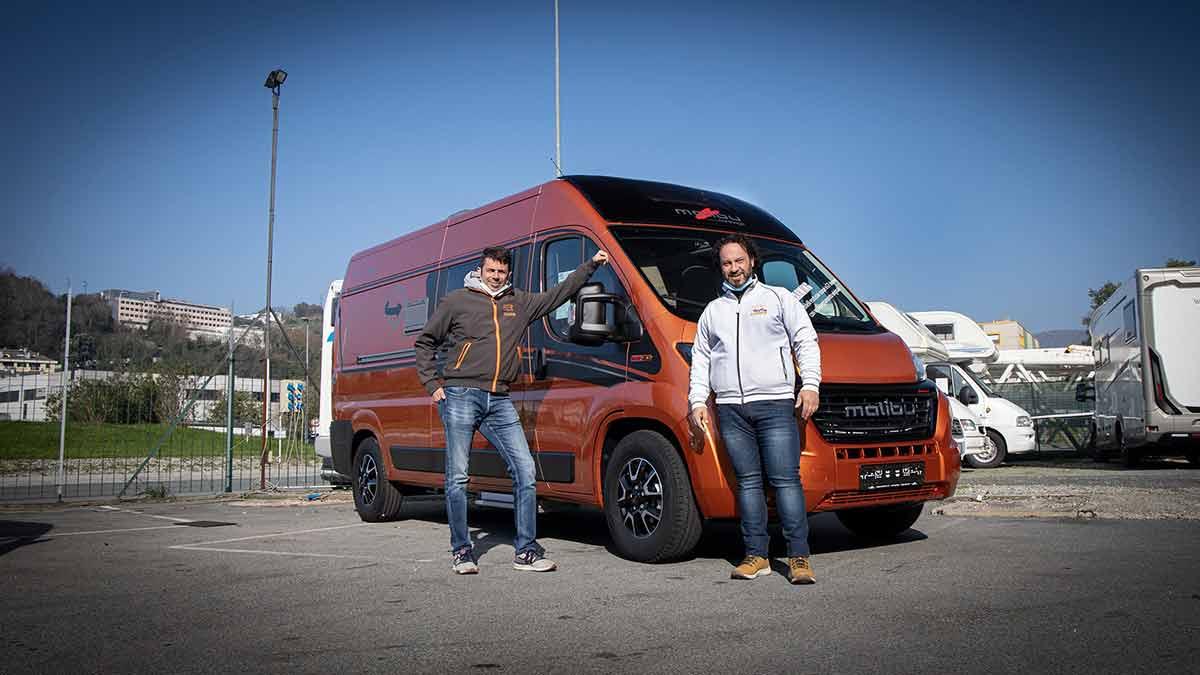 Andrea e Stefano i titolari di Genova Camper